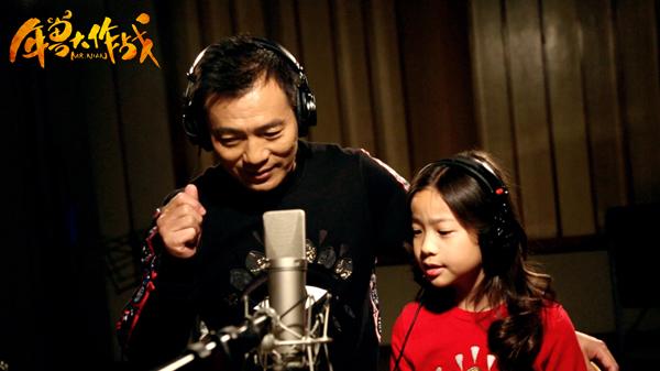 黄健翔和女儿黄熙雯