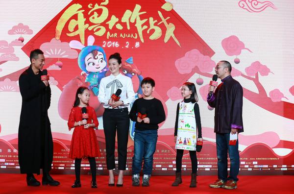 赵文卓和小玫瑰父女、  刘仪伟和女儿刘乐思、王艳和儿子王泓钦