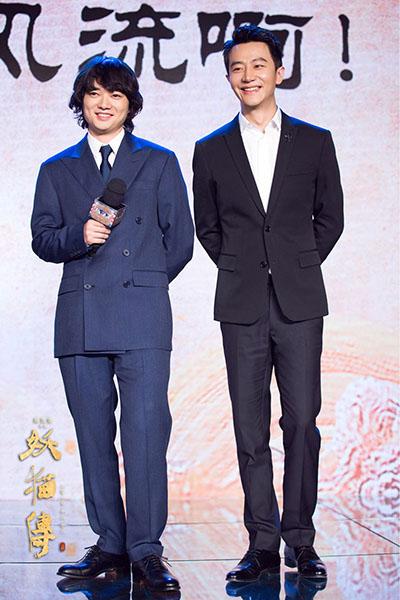 电影新闻 正文     刘昊然,欧豪在电影中出演大玩幻术的白鹤少年,提及